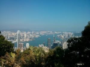 Aussicht auf den Hongkong Hafen Aussicht vom Victoriak Peak (Reisetagebuch Hongkong: Auf dem Victoria Peak)