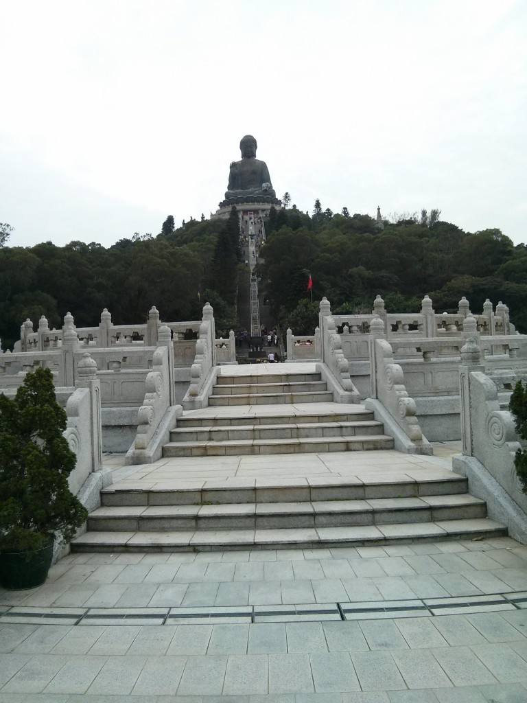 Big Buddha Lantau mit Treppen