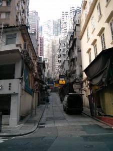 Häuserschlucht in Hongkong