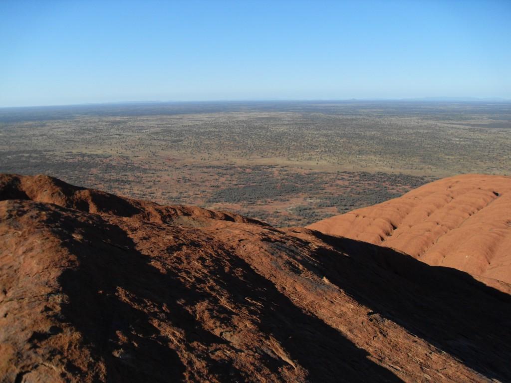 Aussicht vom Ayers Rock Uluru Australien