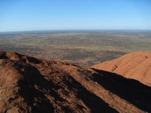 Aussicht vom Ayers Rock Uluru Australien (Reisetagebuch Australien: Auf dem Ayers Rock)