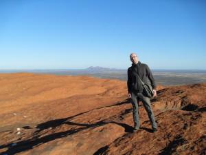 Ich auf dem Ayers Rock Uluru Australien