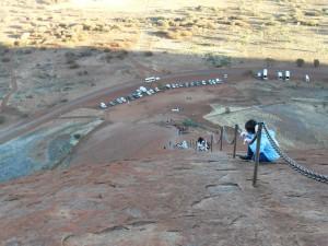 Kette auf dem Ayers Rock Uluru Australien