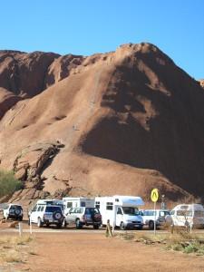 Aufstieg Ayers Rock Uluru Australien
