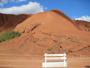 Aufstieg Uluru bzw. Ayers Rock in Australien (Reisetagebuch Australien: Sonnenuntergang am Uluru)