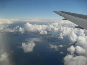 Ausblick Flugzeug (Reisetagebuch: Eine weite Reise nach Australien)