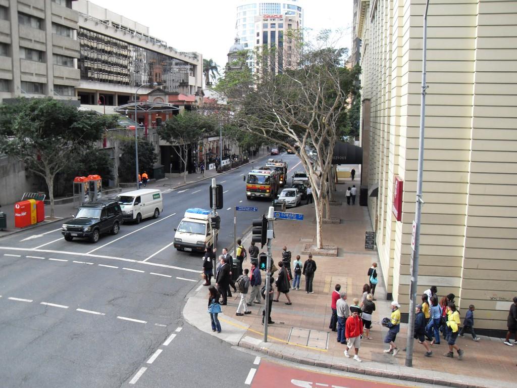Brisbane - Aussicht aus dem Hostel