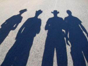 High Noon in Ravenswood Australien mit unseren Schatten (Reisetagebuch Australien: Die Goldgräberstadt Ravenswood)