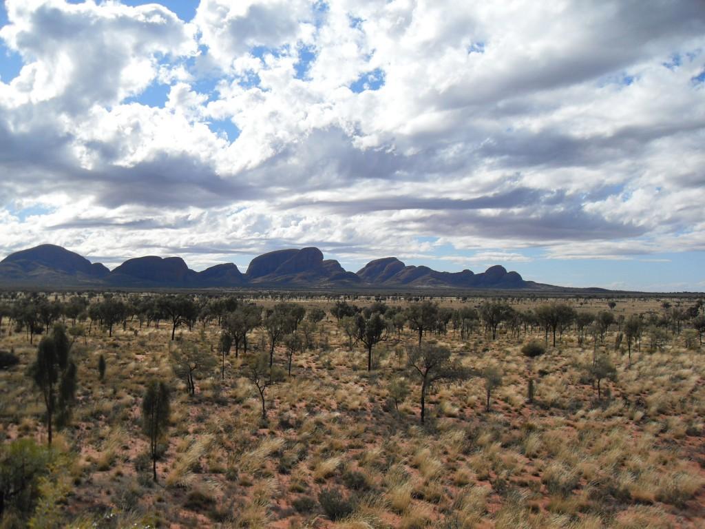 Landschaft beim Uluru
