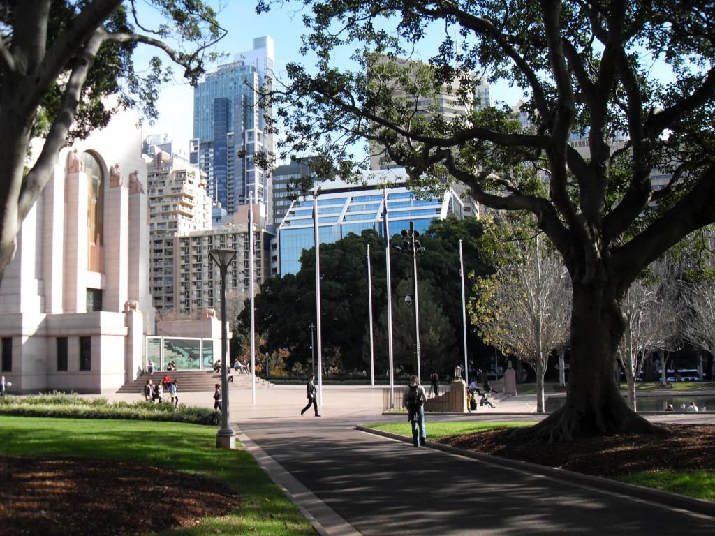Sydney Gebäude und Bäume