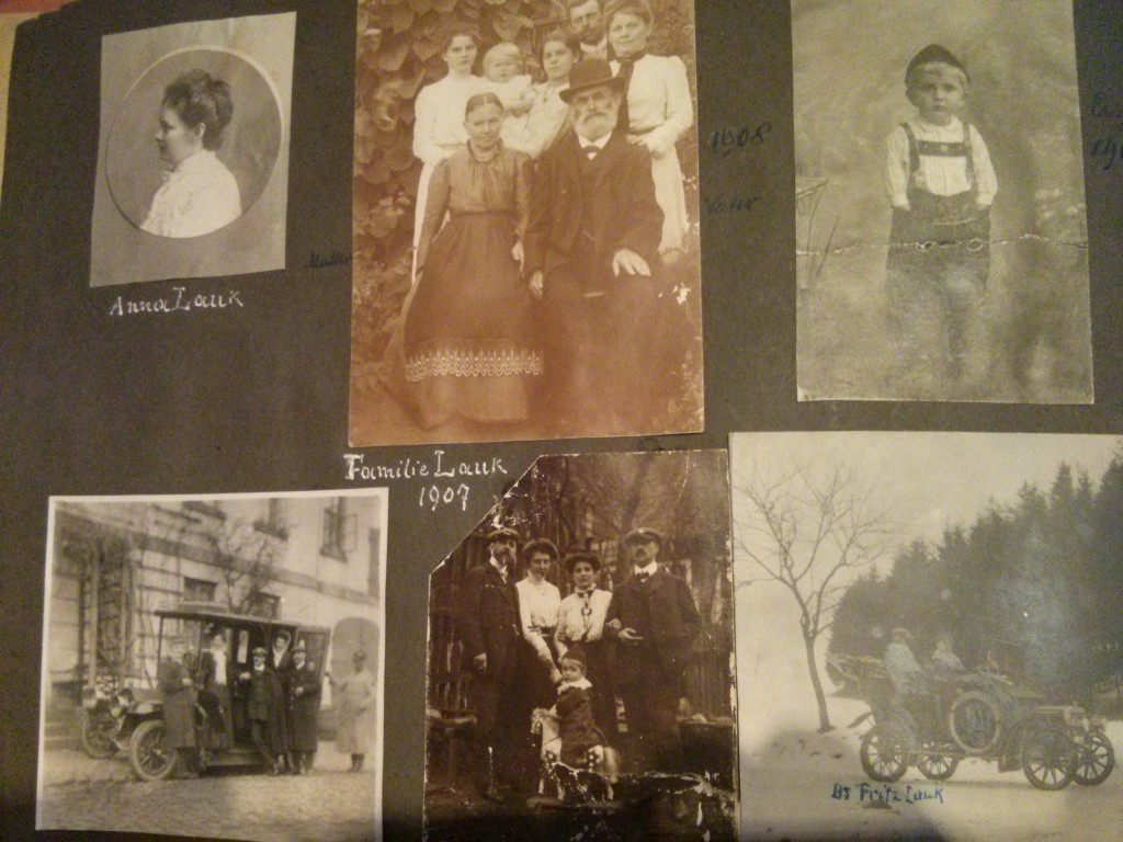 Familiengeschichte historische Bilder Photoalbum Familie Lauk