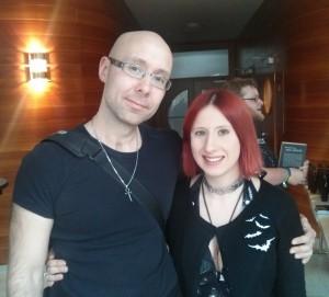 Lydia Benecke und ich auf dem Wave-Gotik-Treffen