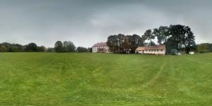 360 Grad Panorama Bild Schloss Lohm Schlossgarten