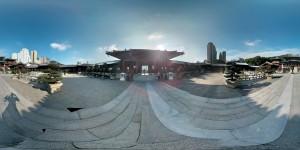 360 Grad Panorama Bild vom Chi Lin Tempel in Hongkong bei Nan Lian Garden (Reisetagebuch: Kultur in Hongkong)