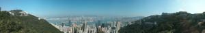 Panorama Bild Hongkong Victorias Peak (Reisetagebuch Hongkong: Auf dem Victoria Peak)