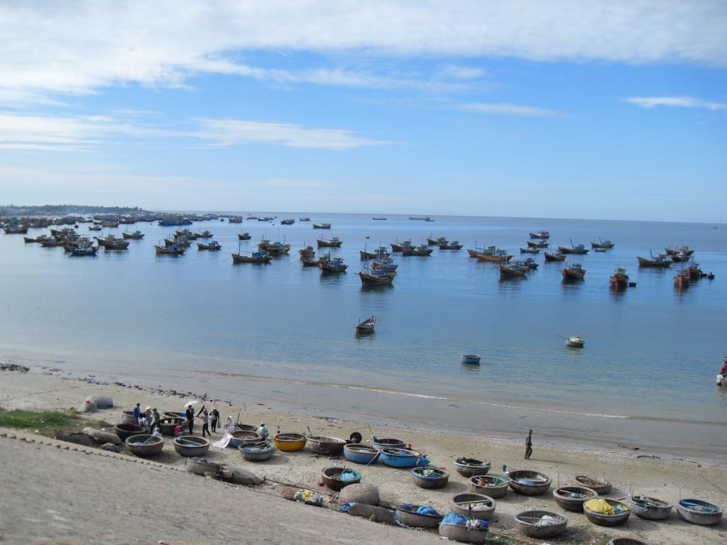 Am Hafen von Mui Ne in Vietnam