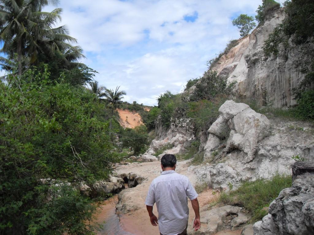Im Canyon von Mui Ne in Vietnam