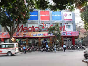Der Media Mart in Hanoi Vietnam