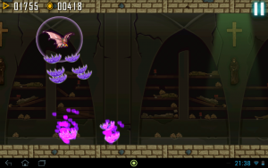 Vampir in Fledermaus-Gestalt (Vampire Rush – Als Vampir an der Decke laufen)