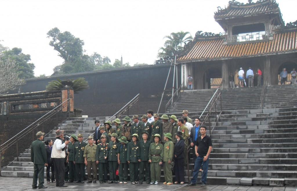 Vietnam-Veteranen in Lang Tu Duc in Hue in Vietnam