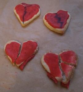 Gothic Kekse gebrochene Herzen