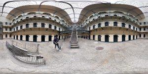 360 Grad Panorama Bild Kilmainham Gaol Dublin Gefaengnis klein