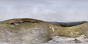 Aussicht Glendalough Nationalpark 360 Grad Panorama Photosphere