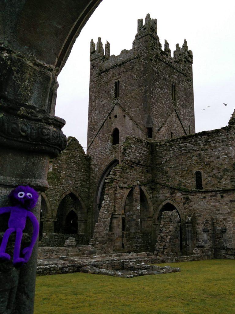 Die Jerpoint Abbey in Irland mit Knoten-Knut