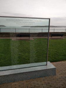 Titanic Gedenktafel in Cobh