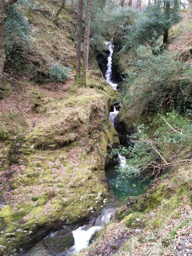 Wasserfall Natur Glendalough Nationalpark Irland