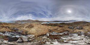 360 Grad Panorama Photosphere Ansicht von Abbey Island aus bei unserer Tour auf dem Ring of Kerry