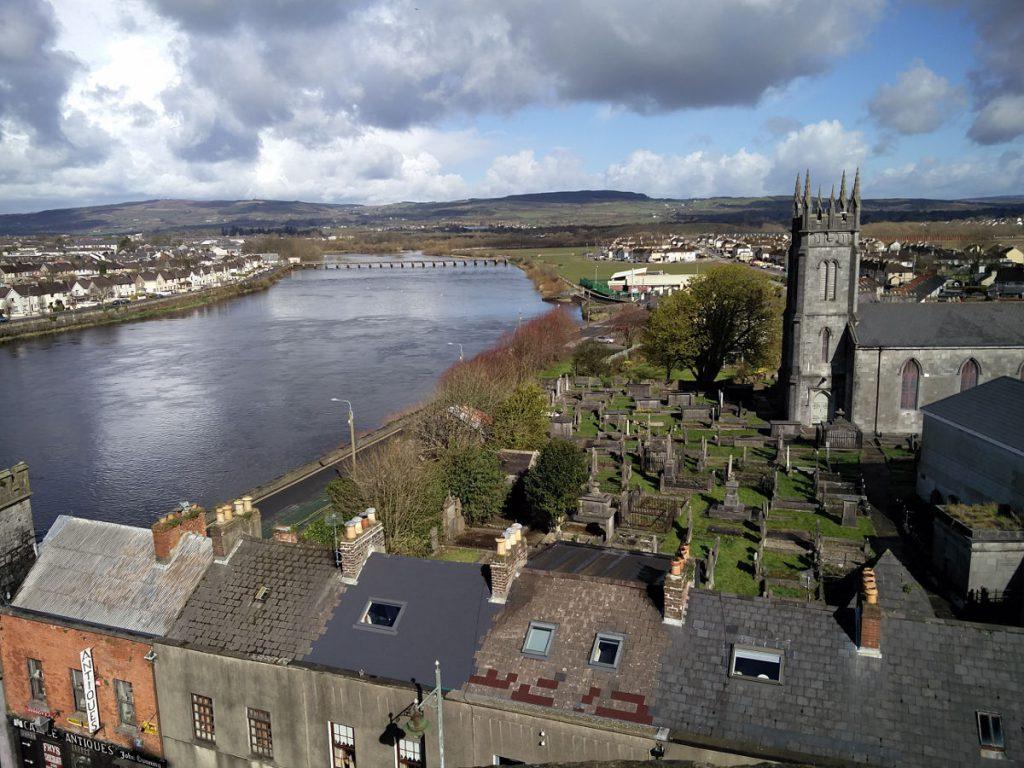 Aussicht auf Limerick von Limerick Castle aus