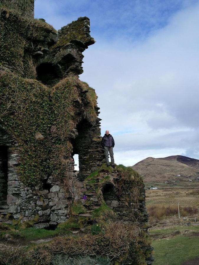 Ballycarbery Castle mit Knoten Knut