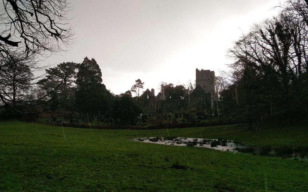 Die Muckross Abbey im Regen