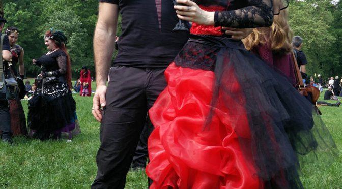 Beim Viktorianisches Picknick auf dem WGT