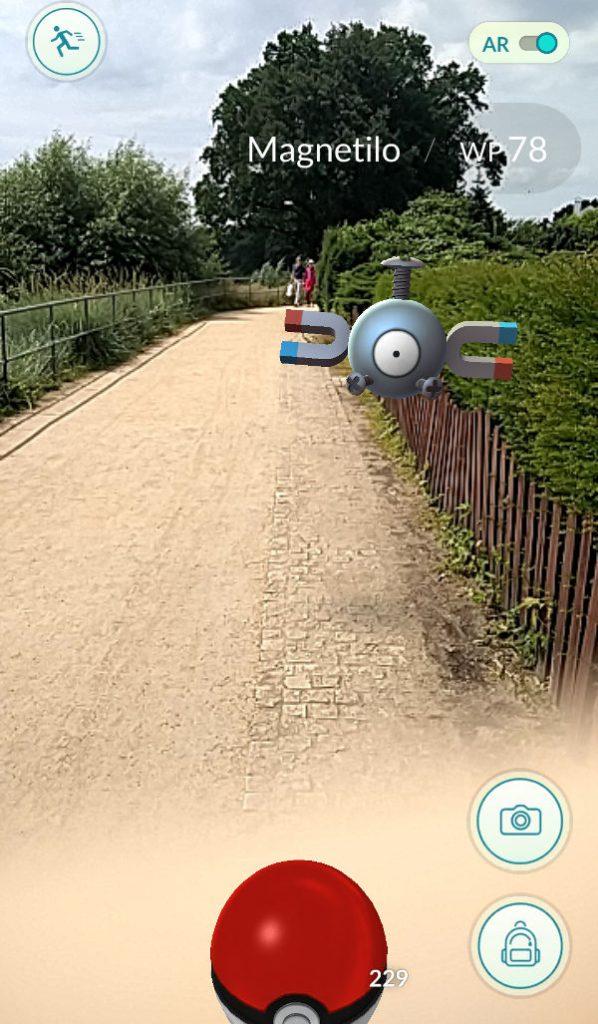 Pokémon Go Magnetilo in Wedel