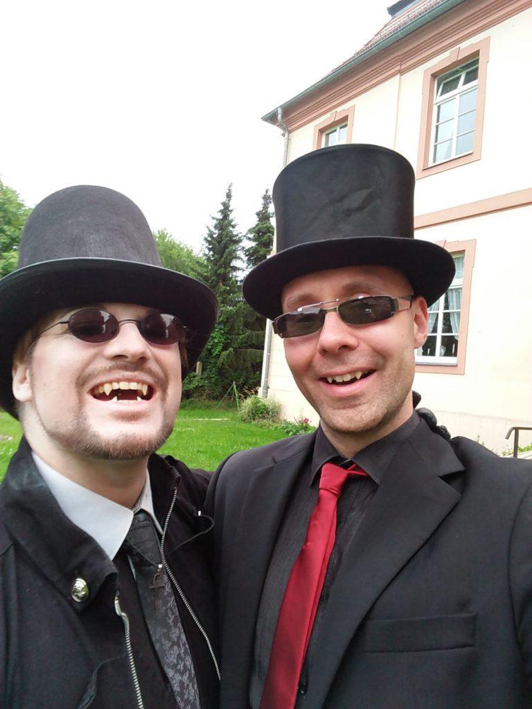 Real Life Vampire Vampyre mit Fangs