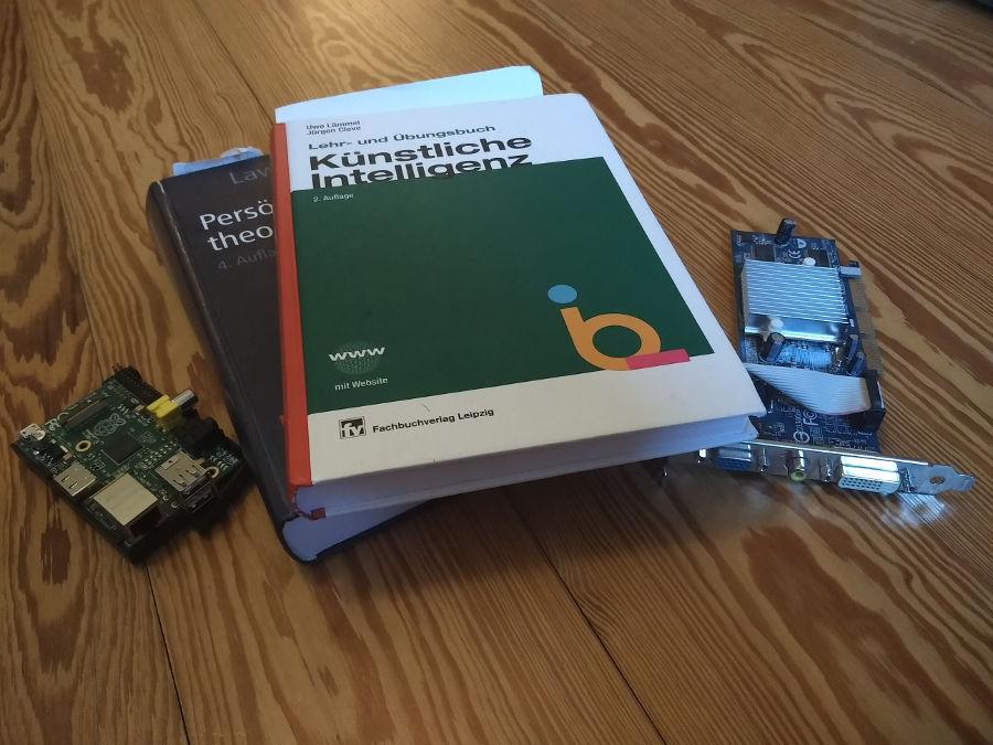 Bücher künstliche Intelligenz und ein Raspberry Pi