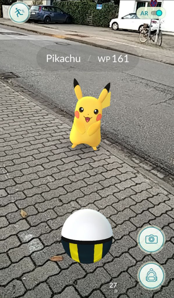 Pikachu Pokemon Go in Hamburg Wedel