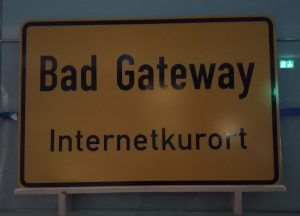 33C3 Schild Bad Gateway Internetkurort beim Chaos Communication Congress in Hamburg (Mein Bericht vom 33C3 – Der letzte Chaos Communication Congress in Hamburg!?)