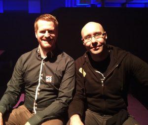 Beim 33C3 Enno Lenze und ich in der Lounge beim Chaos Communication Congress in Hamburg (Mein Bericht vom 33C3 – Der letzte Chaos Communication Congress in Hamburg!?)