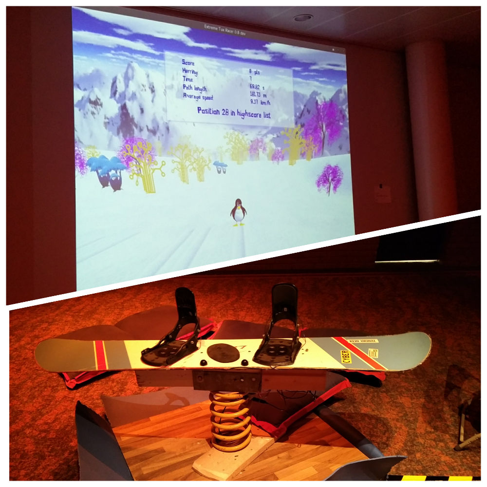 33C3 Extreme Tux Racer Snowboard Steuerung Chaos Communication Congress Hamburg