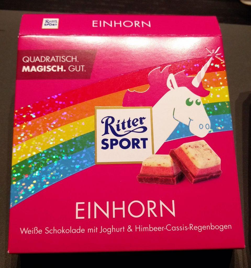 Ritter Sport Einhornschokolade beim #UrsuKochtFollower