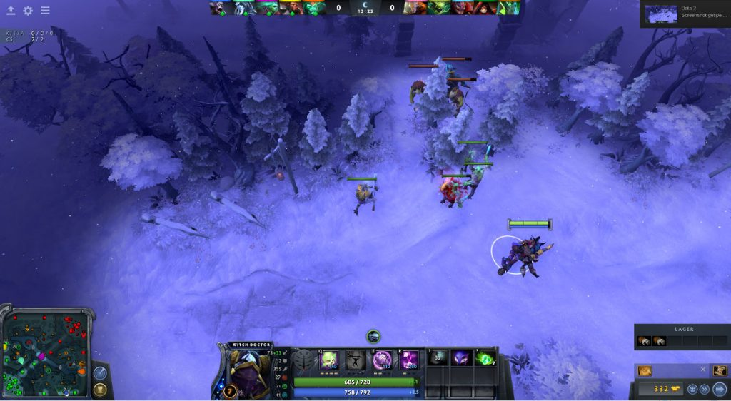 Creep Pulling bei Dota mit dem Witch Doctor
