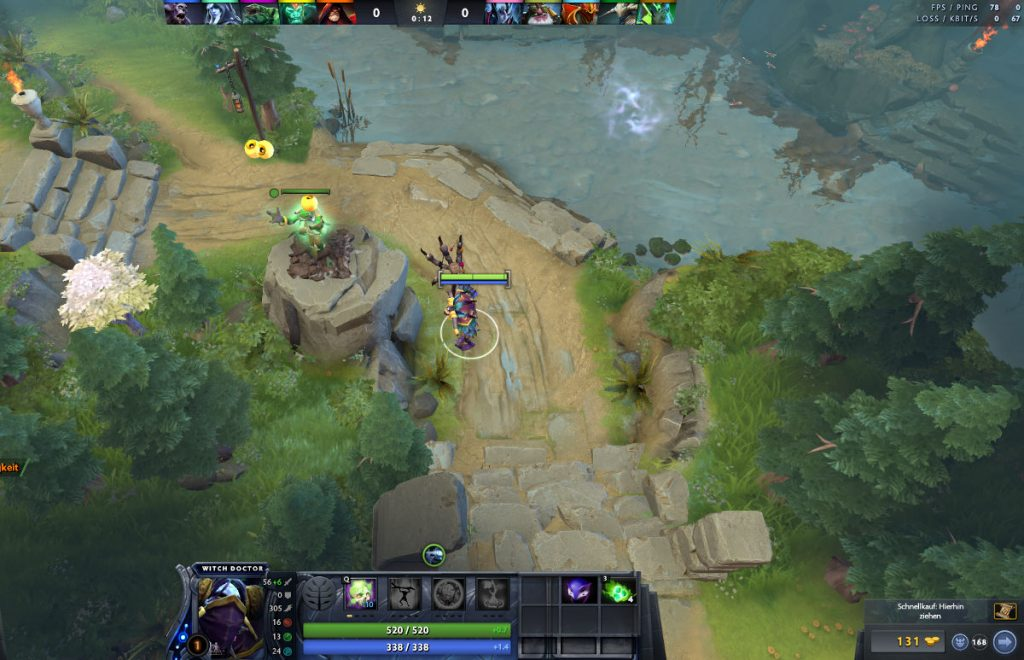 Dota Observer Ward beim Warding durch den Witch Doctor