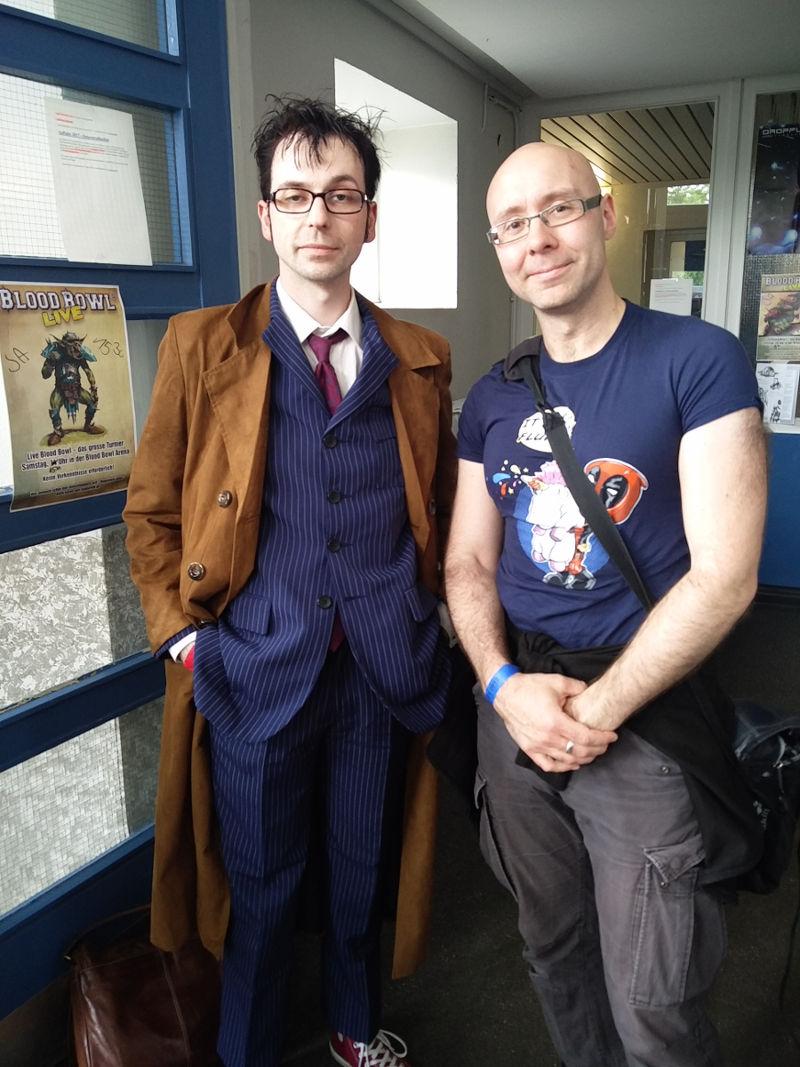 Der zehnte Doktor. Doctor Who Cosplay auf der Nordcon