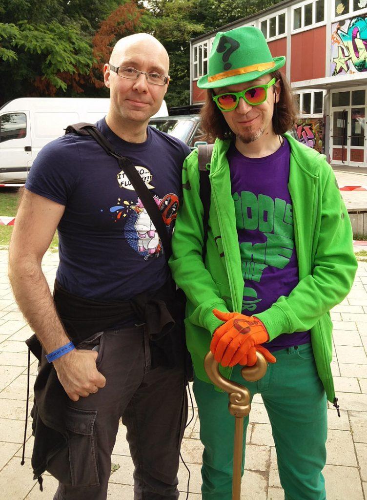 DC-Cosplay: Der Riddler und ich auf der Nordcon