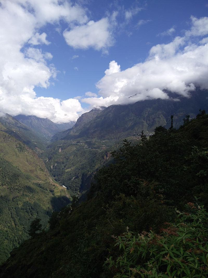 Blick auf Lukla Nepal
