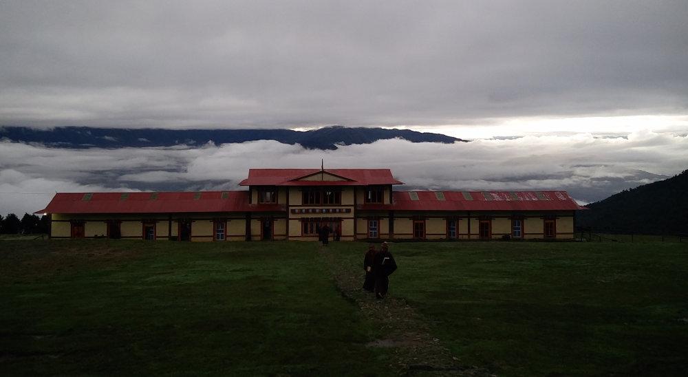Gebetshaus beim Kloster in Takasindu in Nepal