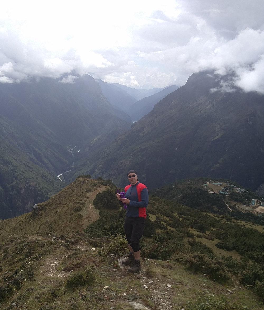 Knoten Knut und ich beim Everest Sherpa Resort Syangboche